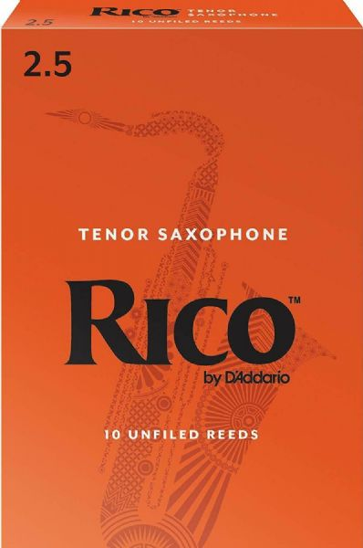 Rico 2.5 Strength Reeds for Tenor Sax (Pack of 10) - RKA1025